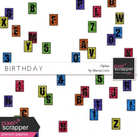 Birthday Glitter Alphas Kit