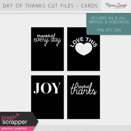 Day of Thanks Cut Files Kit - Cards