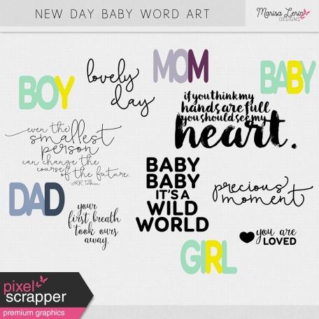 New Day Baby Word Art Kit