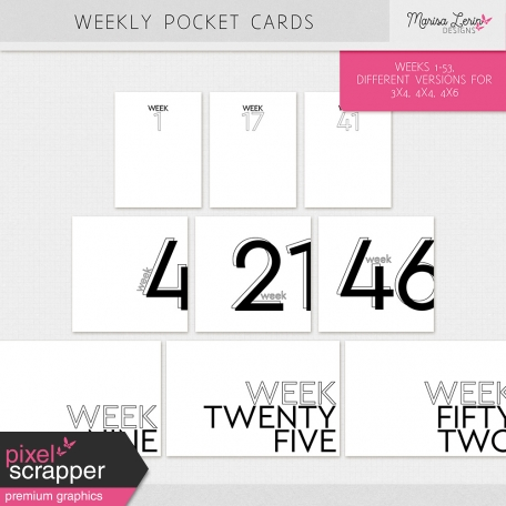 Weekly Pocket Cards Kit