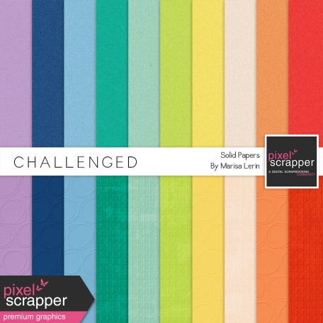 Challenged Solid Papers Kit