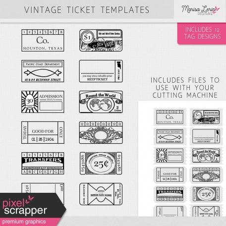 Vintage Ticket Templates Kit