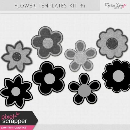 Flower Templates Kit #1 - Felt