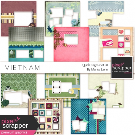 Vietnam Quick Pages Kit #2