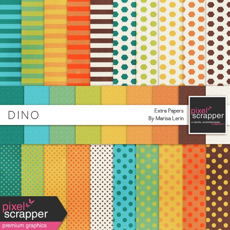 Dino Extra Papers Kit