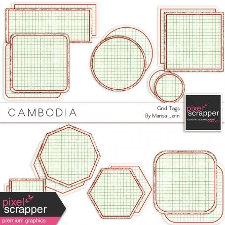 Cambodia Grid Tags Kit