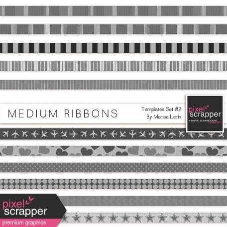 Medium Ribbons Templates Kit #2