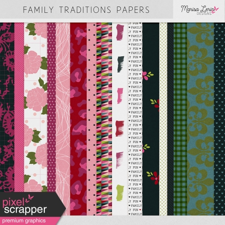 Family Traditions Papers Kit