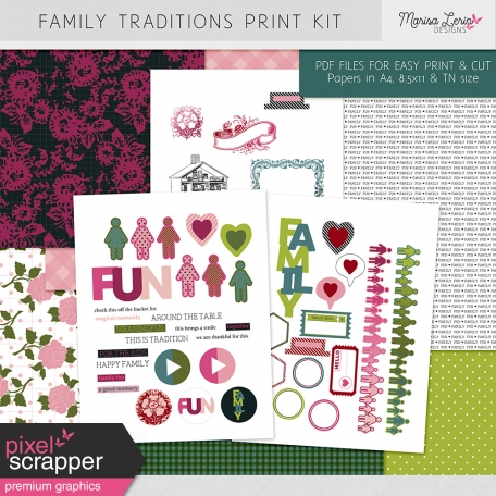 Family Traditions Print Kit