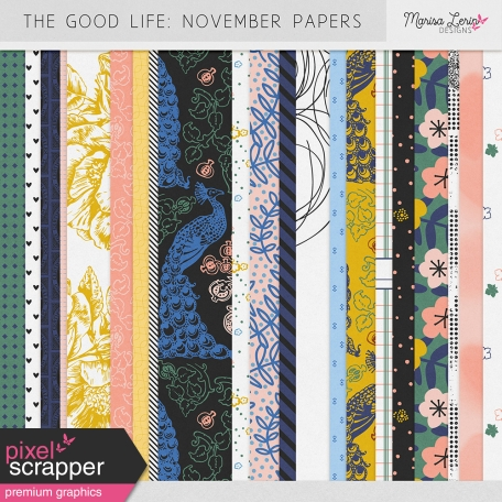 The Good Life: November Papers Kit