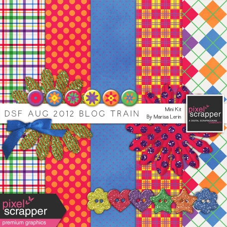 DSF August 2012 Blog Train Mini Kit