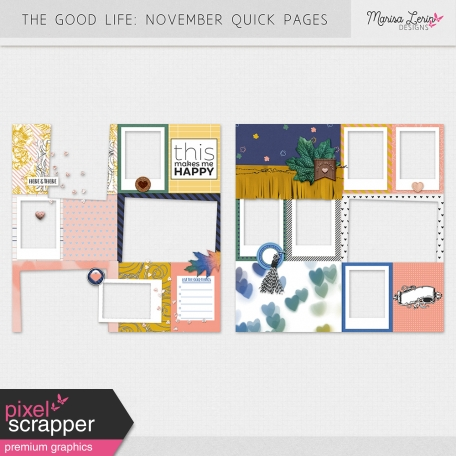 The Good Life: November Quick Pages Kit