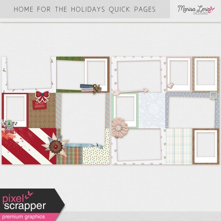 Home for the Holidays Quick Pages Kit