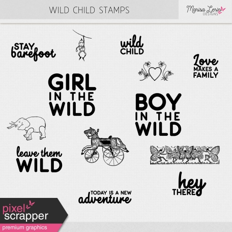 Wild Child Stamps Kit
