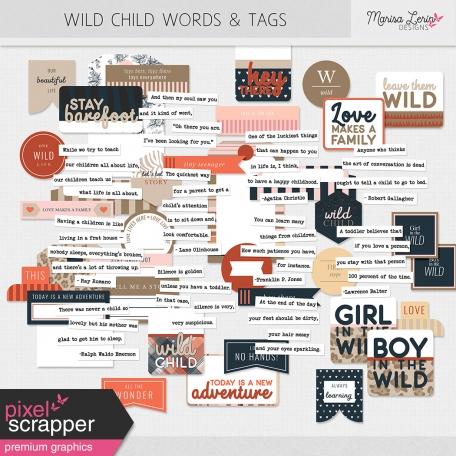 Wild Child Words & Tags Kit