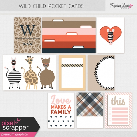 Wild Child Pocket Cards Kit