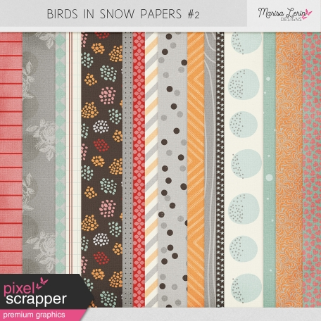 Birds in Snow Papers #2