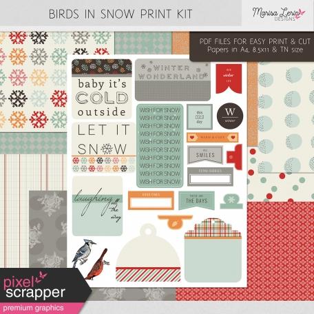 Birds in Snow Print Kit