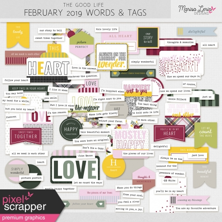 The Good Life: February 2019 Words & Tags Kit
