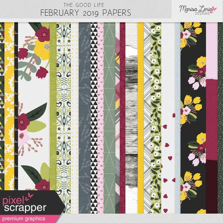 The Good Life: February 2019 Papers Kit