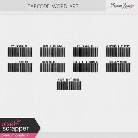 Barcode Word Art Kit