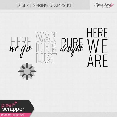 Desert Spring Stamps Kit