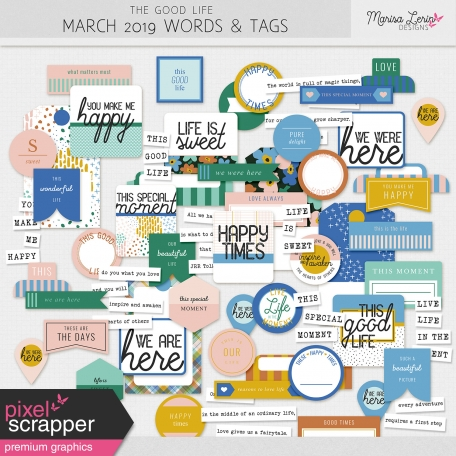 The Good Life: March 2019 Words & Tags Kit