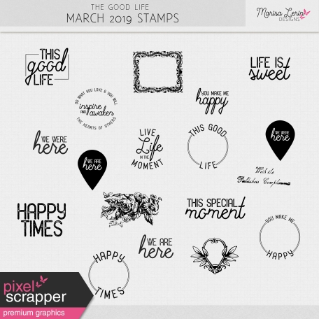 The Good Life: March 2019 Stamps Kit