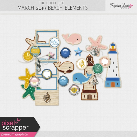 The Good Life: March 2019 Beach Elements Kit