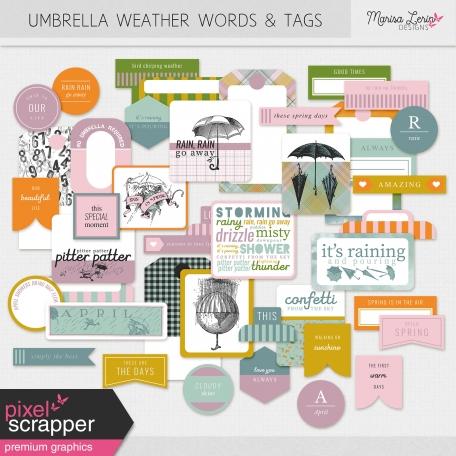 Umbrella Weather Words & Tags Kit