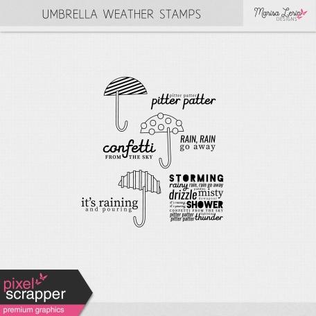 Umbrella Weather Stamps Kit
