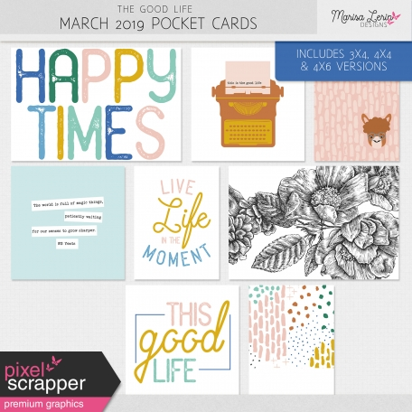The Good Life: March 2019 Pocket Cards Kit