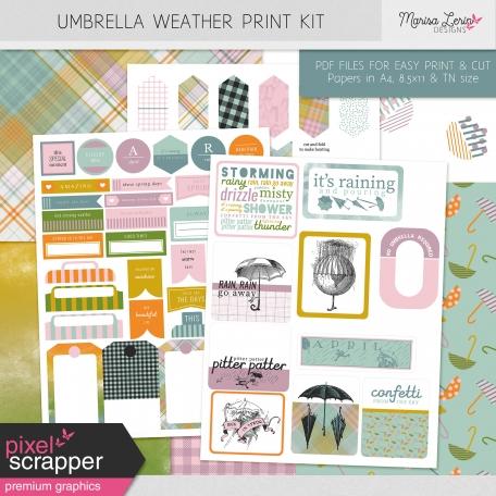 Umbrella Weather Print Kit