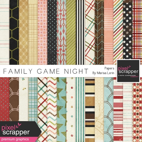 Family Game Nights Papers Kit