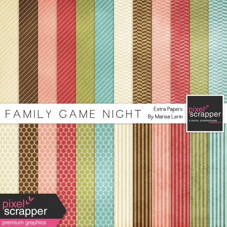 Family Game Night Extra Papers Kit