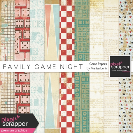 Family Game Night Game Papers Kit