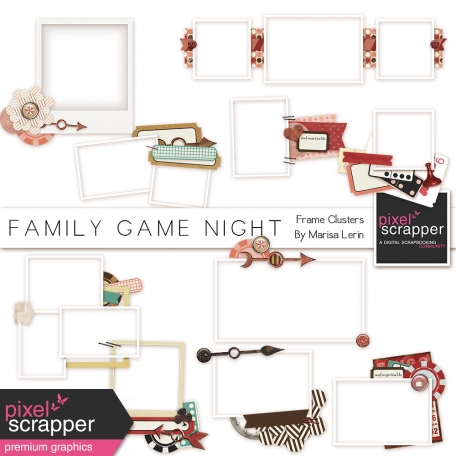 Family Game Night Frame Clusters Kit