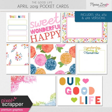 The Good Life: April 2019 Pocket Cards Kit