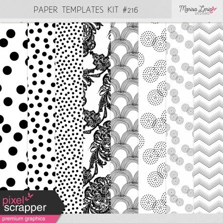 Paper Templates Kit #216