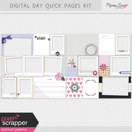 Digital Day Quick Pages Kit