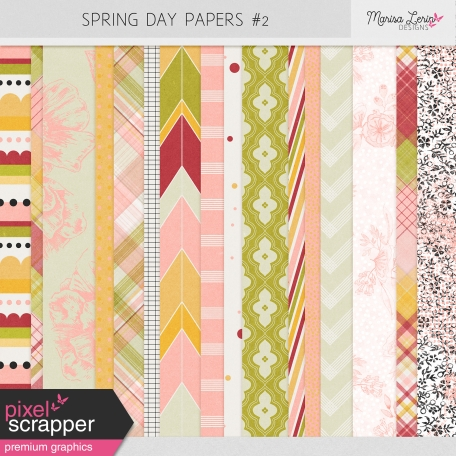 Spring Fields Papers Kit #2