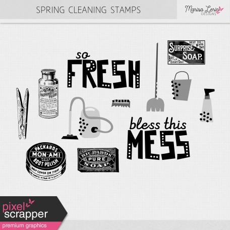Spring Cleaning Stamps Kit