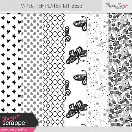 Paper Templates Kit #220