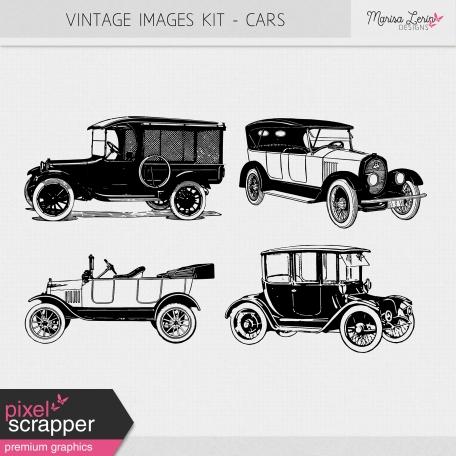 Vintage Images Kit - Cars