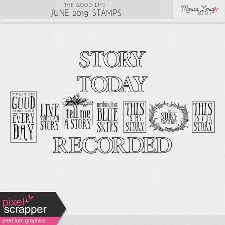 The Good Life: June 2019 Stamps Kit