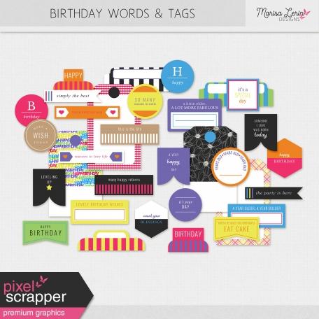 Birthday Words & Tags Kit
