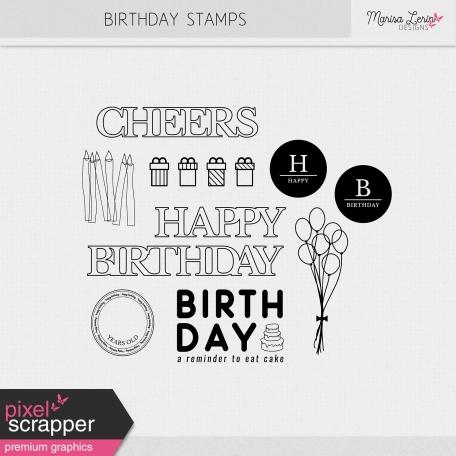 Birthday Stamps Kit