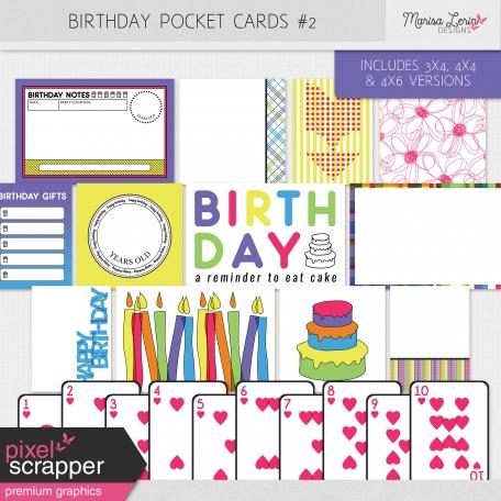 Birthday Pocket Cards Kit #2