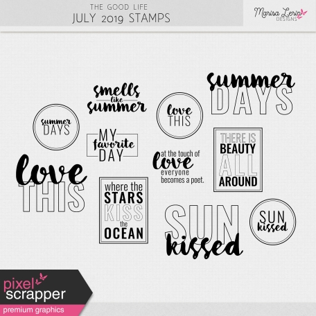 The Good Life: July 2019 Stamps Kit