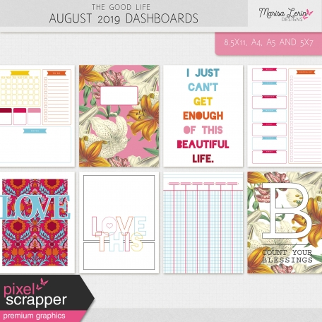 The Good Life: August 2019 Dashboards Kit
